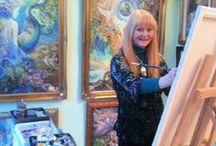 Josephine Wall / Angol képzőművésznő, fantasy art festő. Született: 1947 Farnham Surrey. Álomszerű szép képeket fest, egyedi stílust képviselve.