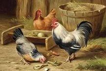Edgar Hunt / Angol festőművész 1876 - 1953. Csodálatos állat és tájkép ábrázoló, határozott és valóságszerű ecset vonásokkal.