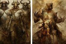 Fantasy creatures & heroes