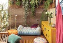 Terrazas, balcones, jardines... / Ideas sobre como crear un rincón especial para poder disfrutar en primavera y verano!