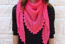 Crochet & knit cowls, scarves, shawls