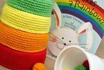 Crochet baskets, bottles, pots…