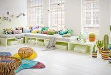 Kleur in huis / Inspiratie voor kleur in je interieur!