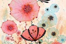 variety flowers / felt/fieltro / by Carolina Quesada