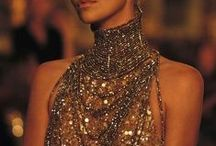 Collar gowns / Couture gowns with high collars