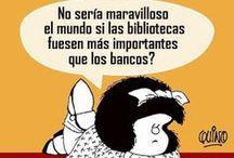 50 años con Mafalda / Recordando célebres frases de la niña más atrevida, encantadora, reflexiva, curiosa, terrible, atrevida, contestataria, sabia, impertinente, humilde y franca.