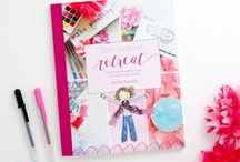 Shop Little Girl Designs / I'm on a mission to help you grow in your creative practice. From learning how to make your own creative retreats, to letter-writing prompts and stationery to tackling our frustrations as creatives (time, money, and organization!), I have several products that are designed to help you nourish your creative side. Enjoy!
