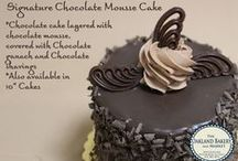 Specialty Cakes, Cupcakes & More / Detailed description of our specialty items that can be ordered in multiple sizes