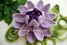 Crochet Flowers and Irish crochet / Todo flores en crochet, crochet free form