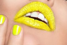 Yellow lipstick