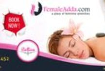 Spa and Ayurveda / FemaleAdda.com is the one stop solution for all the feminine amenities. Female can book the spa service at their preferred location and as per their convenient time. Women      can compare the offers in different Spa centers. Prior confirmed pre booked meeting will help you to save time and money. Foot spa, Thai Spa, Body Massage, Ayurvedic Spa, Swedish Massage, Deep tissue Massage, Body Scrub, Body Wraps, Body Polish, Back Massage, Aromatherapy Massage.
