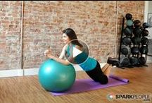 Bosu/Exercise Ball Workouts / How to use a bosu or exercise ball for fitness at home