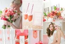 coral pink wedding