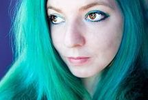 Aqua, Blue, and Turquoise Hair / Manic Panic Atomic Turquoise hair dye, and other colors that look similar