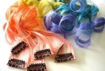 Rainbow Hair / Rainbow hair and extensions