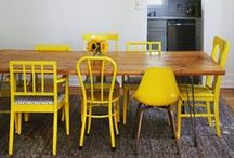 • DÉCO JAUNE • / Inspiration de décoration jaune par touches.