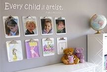 clipboard - kids art display / ★ INEXPENSIVE & TRENDY DECORATIVE DISPLAY ★ nicely polished white color board and silver butterfly clip matches any décor. If multiple hang on the wall creates informative and decorative display in any doctor, dentist, or other office. It is a perfect and simple solution to organize and display KIDS' ART WORK. Its classy appearance makes it a perfect key element of any home and office COMMAND CENTER.