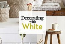 Decorating with white / White is known for opening up even the smallest, darkest spaces. In a small or poorly lit space, use the same color white throughout the space – on the walls, moldings and ceiling – to provide a cohesive look.