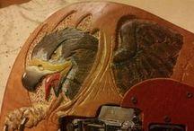 Carved Guitar for Fabio Caeiro