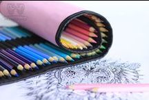 roll-up pencil case & coloring pages for adults