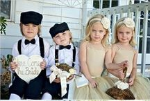 Flower Girl and Ring Bearer / Flower Girl images, Ring Bearer pictures, kids wedding fashion  / by Mine Forever