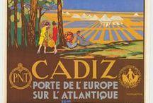 Cartelismo turístico Cádiz / Repaso por el cartelismo turístico que ha tenido a Cádiz y a su provincia como protagonista