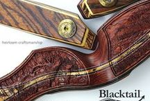 recurve bows - hand carved Blacktail Legacy Series / This board features Blacktail Bow Company investment-grade 'Legacy Series' bows. Each bow is a one-of-a-kind, hand-carved, hand-engraved, high-performing work of art.  The pinnacle of heirloom craftsmanship, the Legacy bow is considered a treasured addition to the fine bow collections of archers throughout the world.