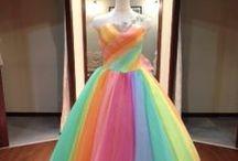 Rainbow Dress / Rainbow Dress, something wedding dress like princess dress.