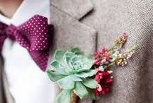 Wedding Ideas: The Groom / And who could forget the Groom! His outfit for the big day is just as important as the bride's and must compliment the whole vibe of the day. Have a look, it seems bow ties are the order of the day in 2016!