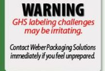 GHS Chemical Labeling / COMING SOON: If you manufacture chemicals or re-bottle chemicals, you will need to comply with OSHA's GHS labeling standard. Our board offers tips, regulation information, labeling solutions and label examples.  / by Weber Packaging
