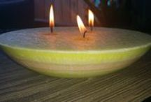 flickerwick candles / Beautiful handcrafted centrepiece table candles. Sustainable non genetic modified Palm Wax