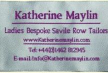 Bespoke Tailoring / Some examples of garments created for our customers. Each garment has been individually cut by hand and made using traditional Savile Row tailoring techniques. For more details http://www.katherinemaylin.com