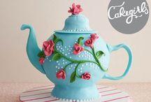 Cake figures & flowers
