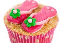 Zomer cupcake's / Leuke zomer cupcake's