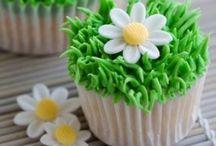 Voorjaar cupcake's / Leuke Voorjaar cupcake's