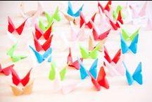 Flores y origami
