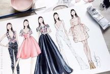Fashion illustrations and artwork