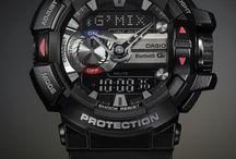 腕時計 / アナデジで防水と電波ソーラー付きの小さめのやつが理想。そしたら必然的にG-SHOCKかBABY-Gになるよね。