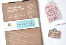 INSPIRATION | paper goods / all paper related finishing touches... flyers, business cards, promotional products etc.