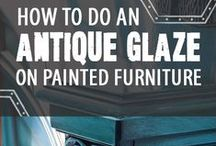 Chic n Unique Furniture / A super collection of creative re-cycled furntiure makeovers.  Learn how to take something old and make it new again through these inspirational designs. #recycled #furntiture #paintedfurniture #howtopaint #diypaintdesigns