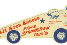 Springsteen 80-81 Backstage Passes / Backstage Passes by OTTO for Bruce Springsteen 1980 - 81 Tour