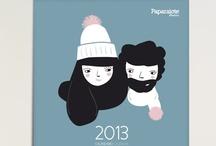 Calendario 2013 • Calendar 2013 / by Paparajote factory