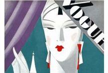 Glam / Magazine covers, vintage beauty ads, portraits