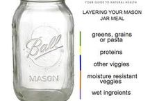 Mason Jar Recipes - Make Ahead Breakfast & Lunch Ideas / Usually healthy & dairy free, often vegan - always simple :)