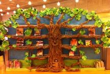 Library Trees / Great examples of tree diplays in libraries.