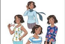 Vesta Patterns / Sewing patterns for the domestic goddess.   Each style is drafted to fit three different body shapes, so you can start with a pattern that fits your figure.