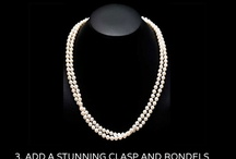 Pearl & Clasp - Our products, sales and work / You have a beautiful strand of pearls, now give it a little extra dazzle with a beautiful clasp. We can restring your pearls with any of our stylish clasps! Check out our restringing work and learn about our great sales.