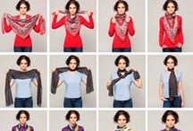 Como usar Echarpes Lenços -To Wear a Scarves