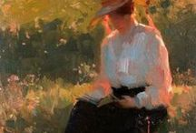 ART-BOOKWORMS / I love paintings of people reading