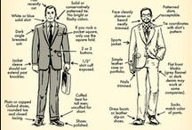 Dress for Success - Men / Ideas for dress for the men. What to wear to an interview, career fair, internship, or on the job. And what does business casual mean...
